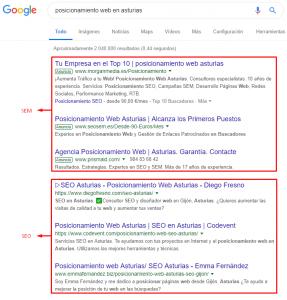 Posicionamiento web en Asturias